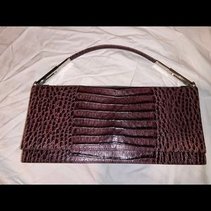 ANTONIO MELANI. Brown leather,,snake skin style